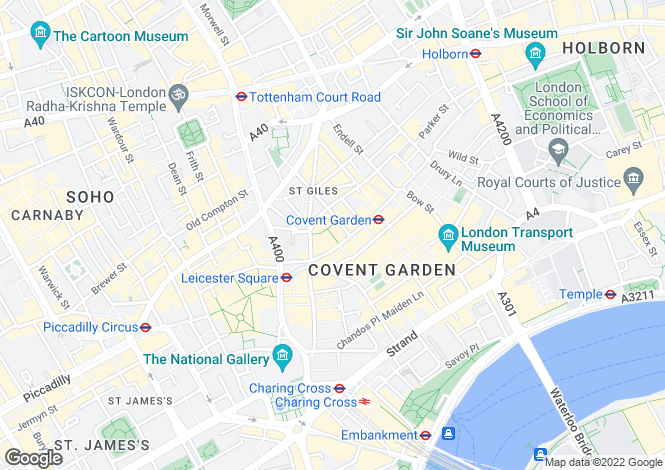 Map for Long Acre, Covent Garden, London, Greater London, WC2E