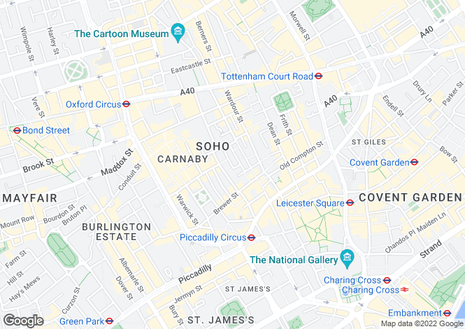 Map for Ingestre Place, Soho
