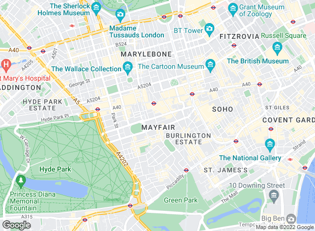 Map for Lionsgate Properties, Mayfair