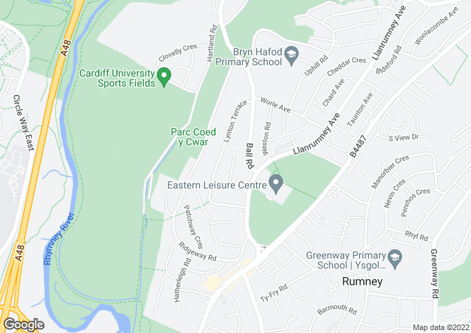 Map for Lynton Close, Llanrumney, Cardiff