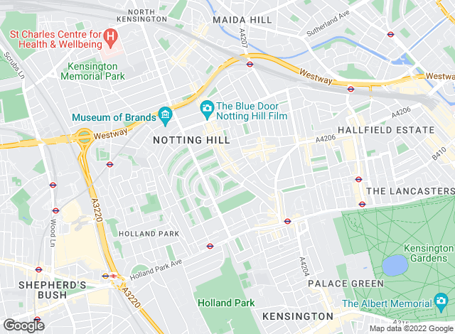 Map for Douglas & Gordon, Notting Hill
