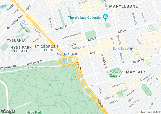 Map for North Row, Mayfair, W1K