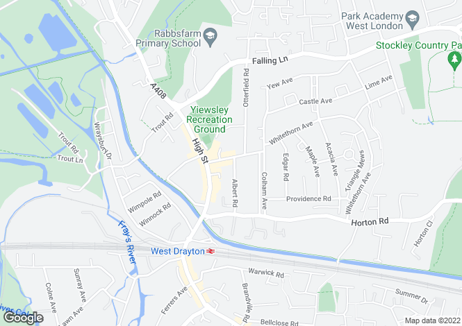 Map for Fairfield Road,