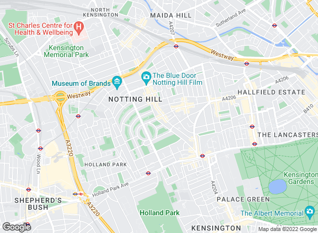 Map for Knight Frank, Notting Hill