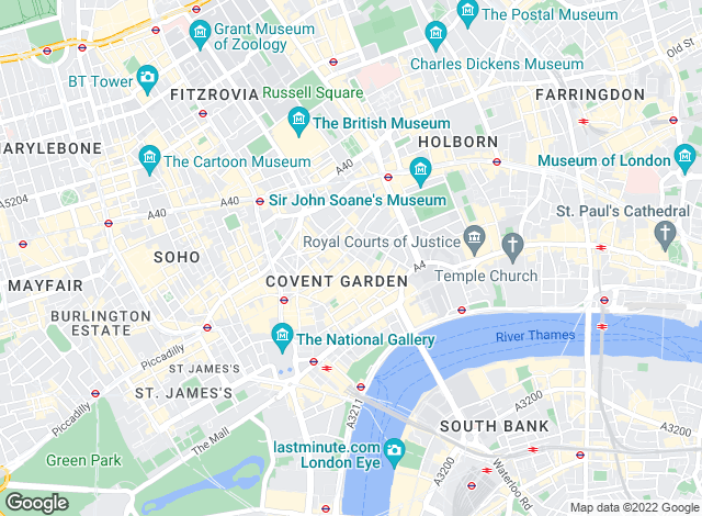 Map for EA Shaw, London - Sales