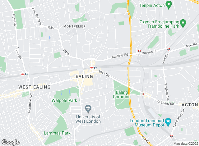 Map for Foxtons, Ealing