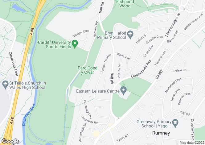 Map for Lynton Terrace, Llanrumney, Cardiff