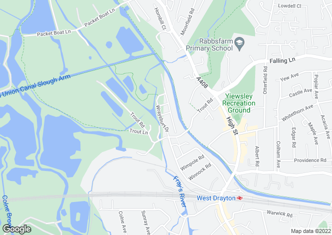 Map for Wraysbury Drive, West Drayton, Middlesex