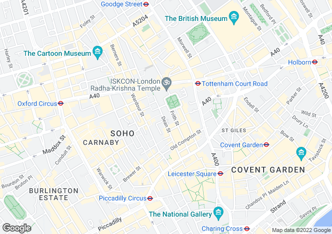 Map for Dean Street, Soho, W1D