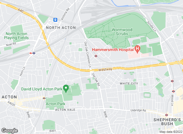 Map for Hart Estate Agents, East Acton
