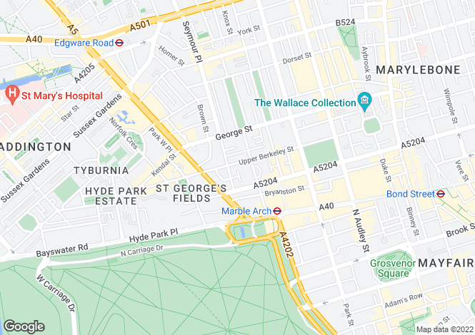 Map for Upper Berkeley Street,  London, W1H