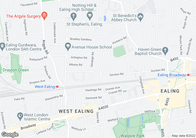 Map for West Ealing / Ealing Broadway,London