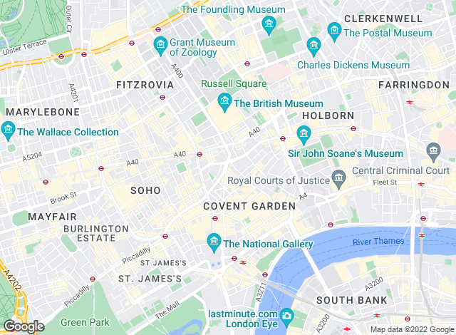 Map for Chesterton Humberts Lettings, Covent Garden and West End