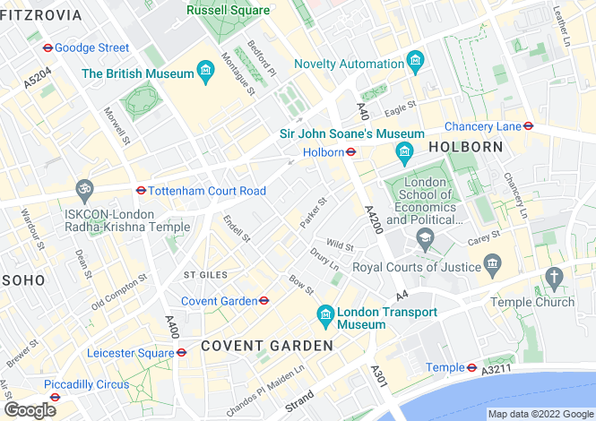 Map for Macklin Street, Covent Garden, London, WC2B