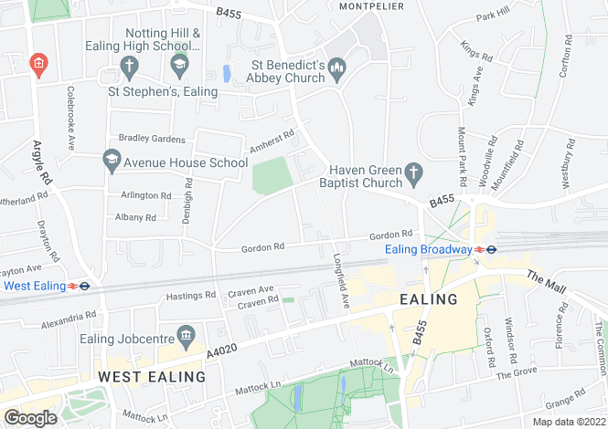 Map for Carlton Gardens, Ealing