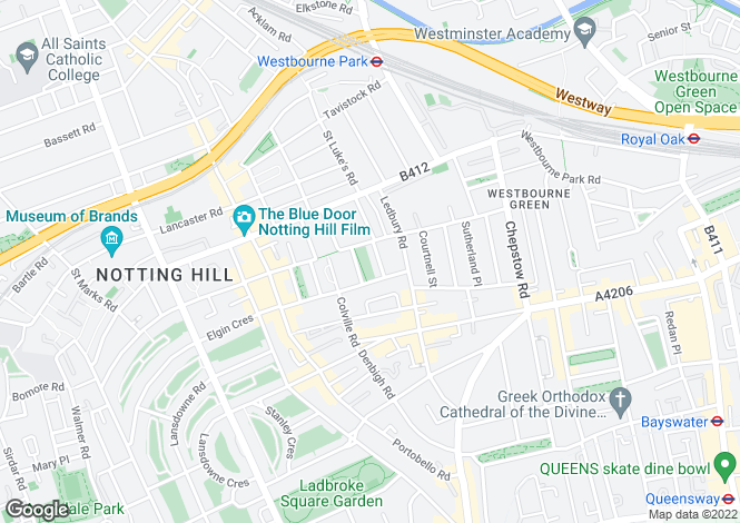 Map for Powis Square W11