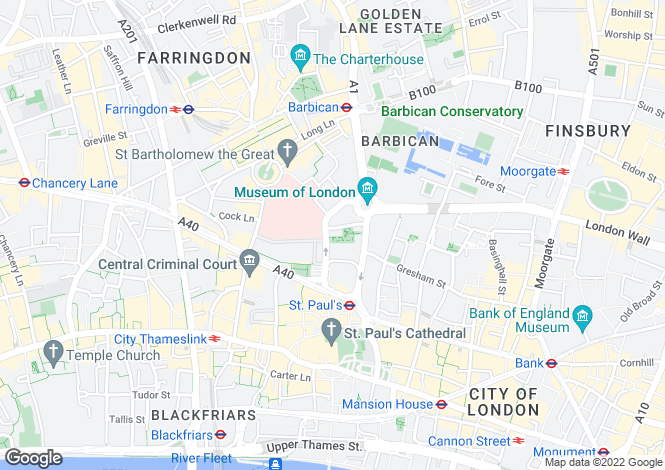 Map for SHORT LET, Little Britain, London, EC1A