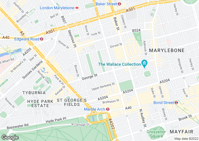 Map for Montagu Square, Marylebone