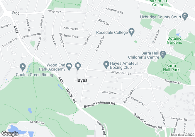 Map for 155 Varcoe Gardens, Hayes, Middlesex, UB3
