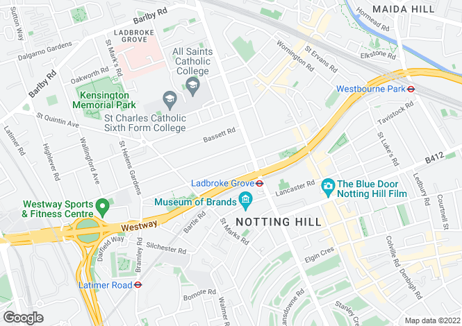 Map for Cambridge Gardens North Kensington W10