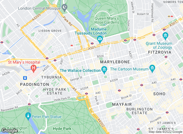 Map for Knight Frank, Marylebone