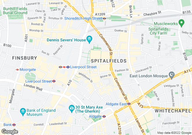 Map for Spitalfields Lofts, 49 Crispin Street, London, E1
