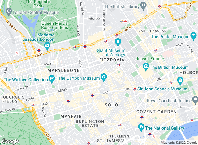 Map for LDG, London - Lettings