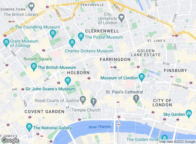 Map for Paul Estates Ltd, Farringdon