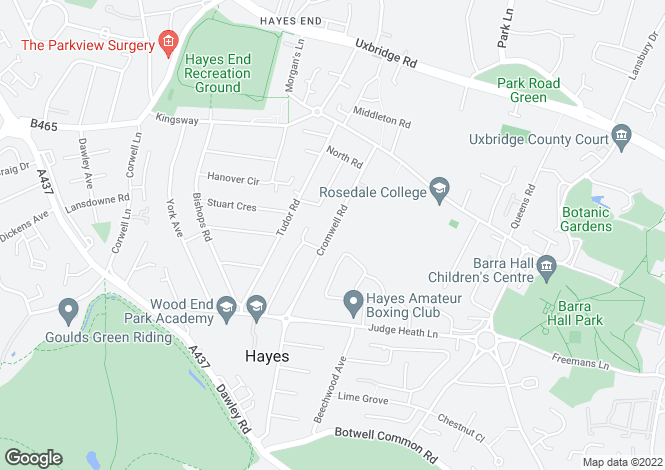 Map for Cromwell Road, Hayes, Middx, UB3