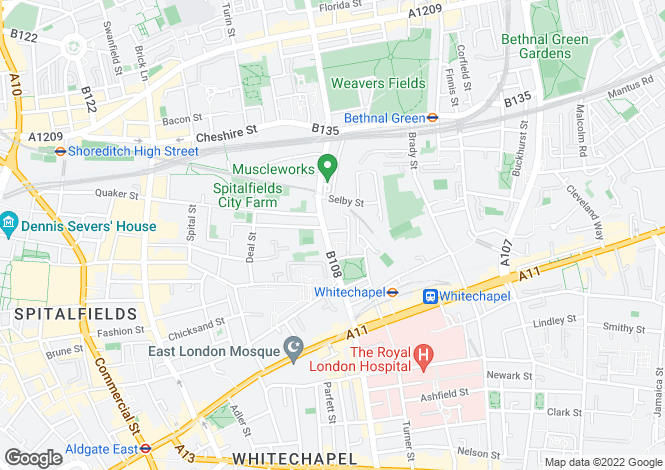 Map for Vallance Road, Whitechapel, London, E1 5BQ