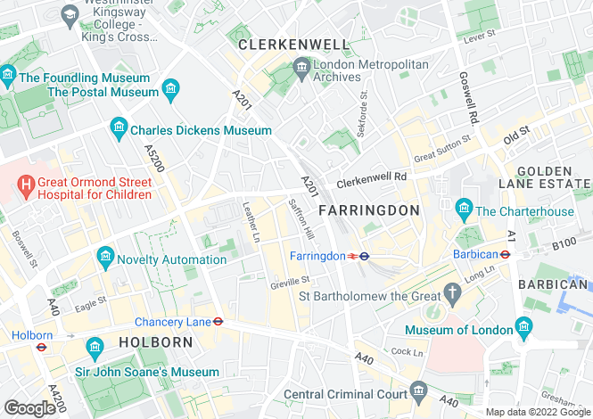 Map for 60 - 66 Saffron Hill, Farringdon, London, EC1N