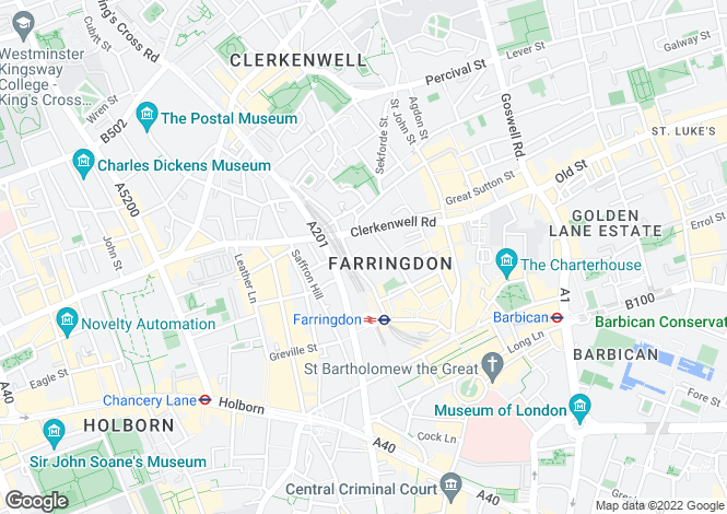 Map for Turnmill Street, Clerkenwell, London, EC1M