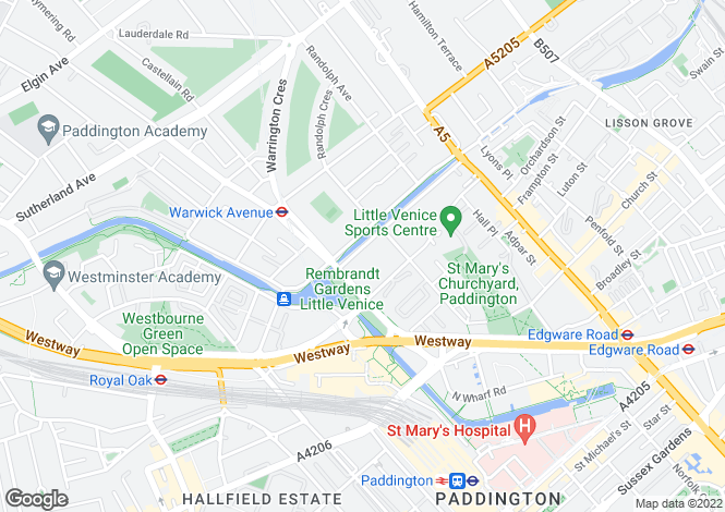 Map for Maida Avenue, London, W2