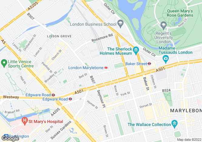 Map for Melcombe Place,