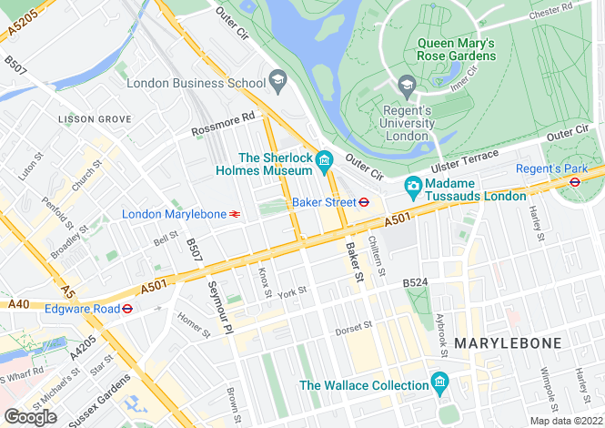 Map for Dorset House, Marylebone, NW1