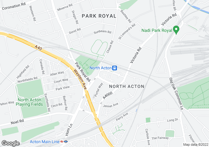 Map for Trentham Court, Victoria Road, North Acton, LONDON, UK