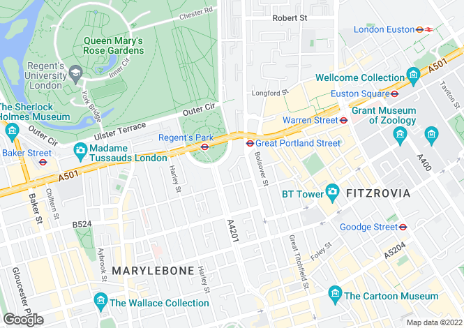 Map for Park Crescent Mews East, Marylebone Village, London W1