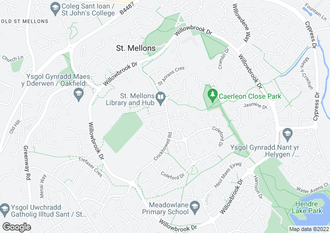 Map for Oakmeadow Court, Ashdown Close, Cardiff
