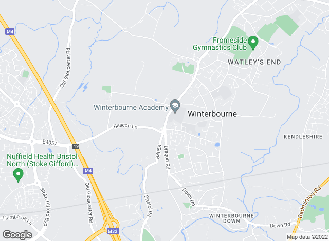 Map for MacKendrick Norcott, Winterbourne