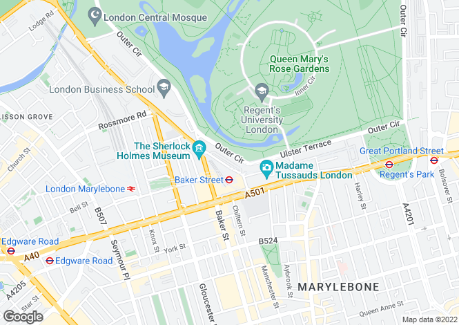 Map for Cornwall Terrace, London, NW1 4QP
