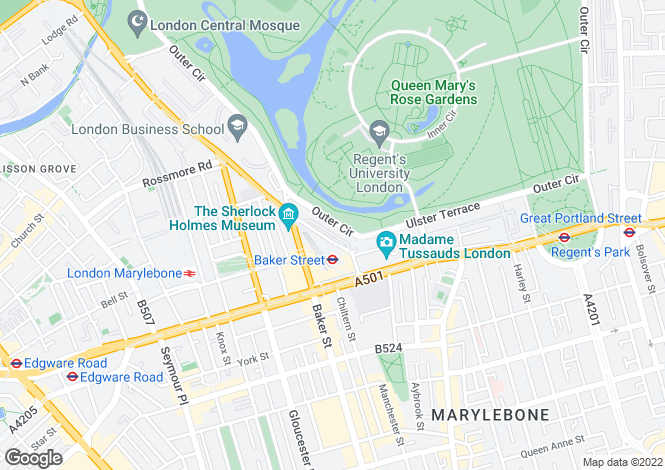 Map for Cornwall Terrace, Regent's Park, London, NW1