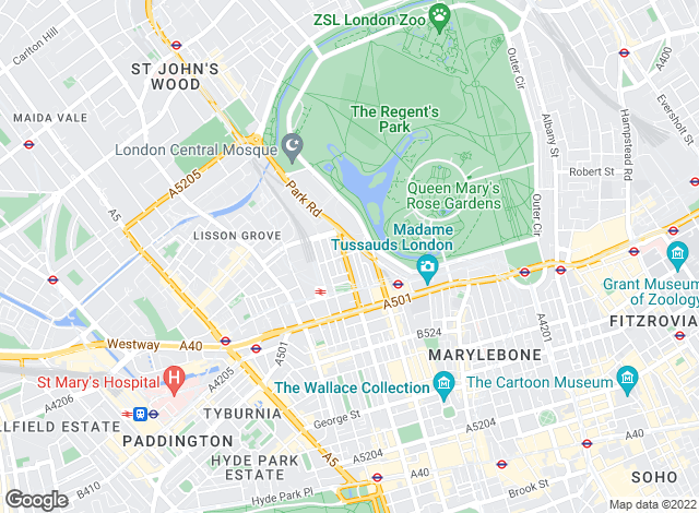 Map for Alexanders, Marylebone