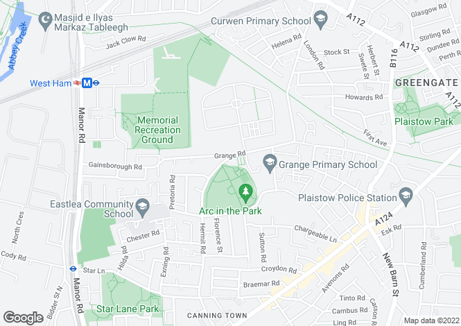 Map for Park Vista Apartments, Hermit Road, Canning Town, E16
