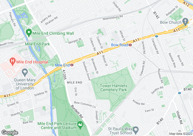 Map for Brokesley Street,