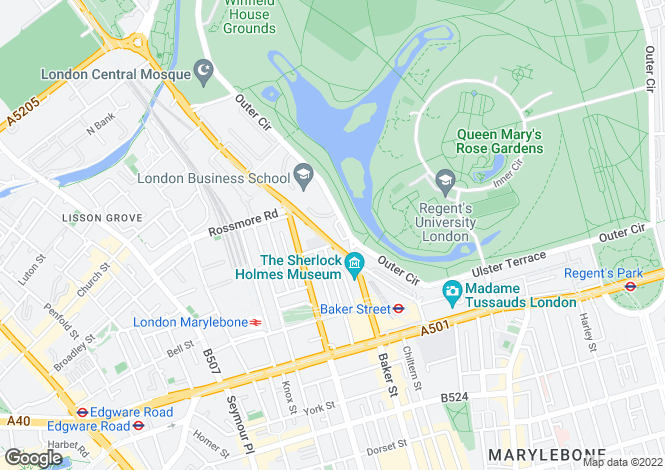 Map for Clarence Terrace, London,NW1