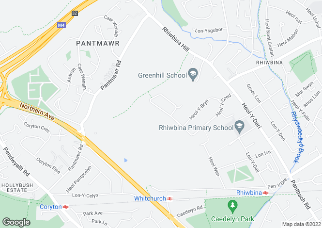 Map for Heol Y Coed, Rhiwbina