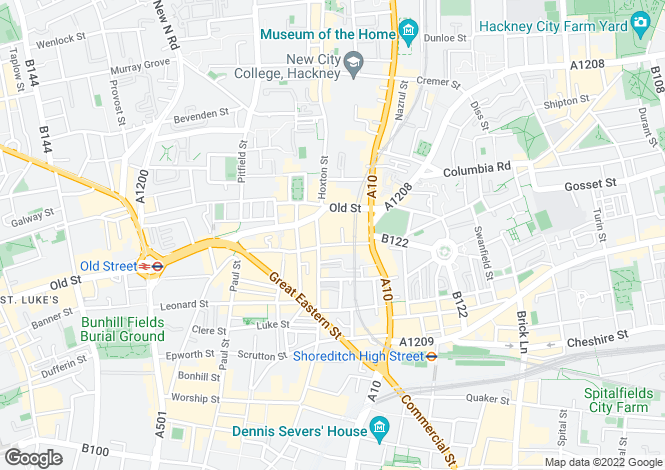Map for Standard Place, Shoreditch, EC2A 3BE