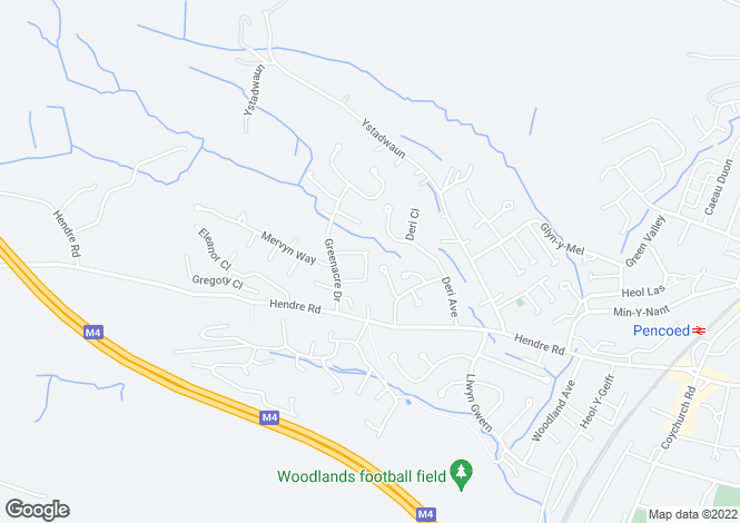 Map for Verlands Court Pencoed  Bridgend Mid. Glamorgan CF35 6JA