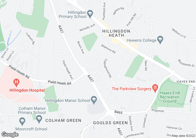 Map for Hambledon Close, Hillingdon