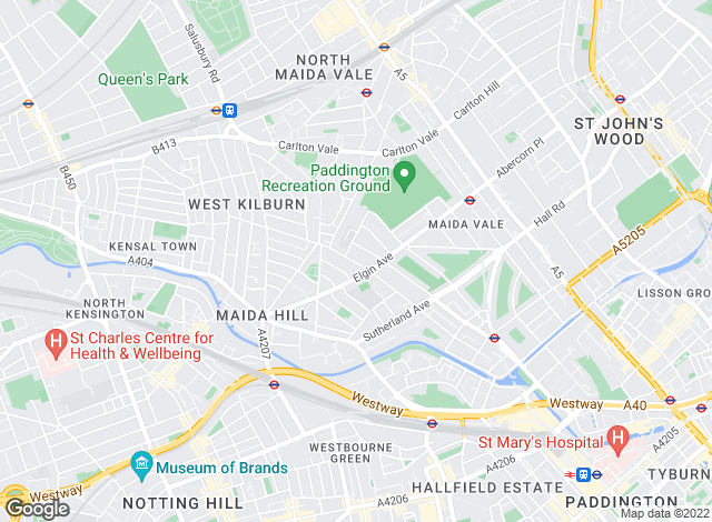 Map for Pembertons, Maida Vale